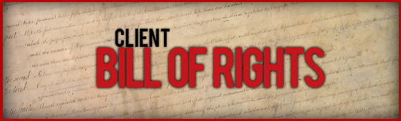 Setting The Foundation -The Client Bill of Rights