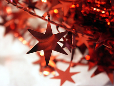 red-christmas-star