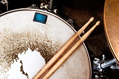 Music background.Drum close up image.